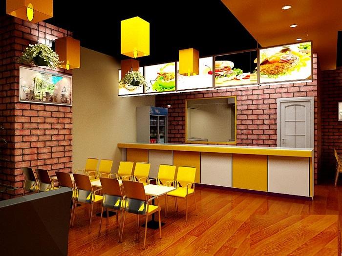 3- Xu hướng thiết kế nhà hàng ăn nhanh hiện đại thu hút khách hàng