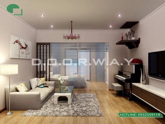 4- Tư vấn thiết kế nội thất phòng khách chung cư hiện đại sang trọng