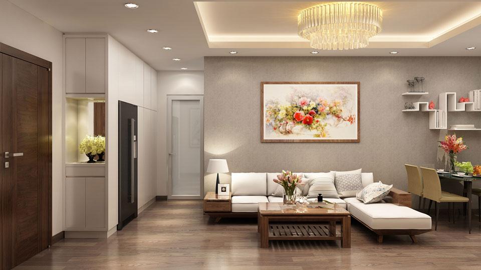 Ảnh tiêu biểu- Tư vấn thiết kế nội thất phòng khách chung cư hiện đại sang trọng