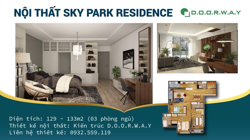 Ảnh tiêu biểu- Bật mí về thiết kế căn hộ 3 phòng ngủ Sky Park Residence