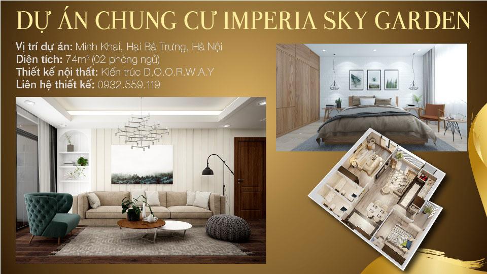 Ảnh tiêu biểu- Thiết kế căn hộ 74m2 Imperia Sky Garden - Căn hộ 2PN đẹp