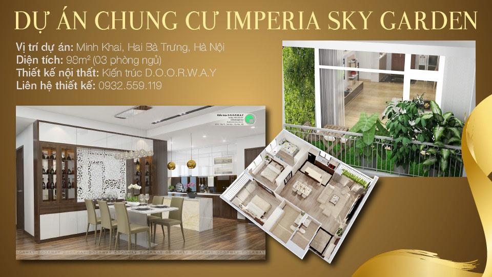 Ảnh tiêu biểu- Gợi ý thiết kế căn hộ 98m2 Imperia Sky Garden - Căn 3 phòng ngủ