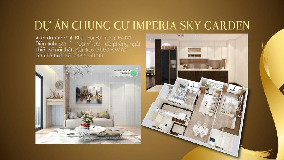 Ảnh tiêu biểu- Mẫu thiết kế nội thất chung cư Imperia Sky Garden - Kiến trúc Doorway