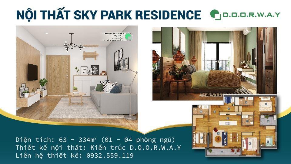 Ảnh tiêu biểu- Khám phá mẫu thiết kế nội thất chung cư Sky Park Residence - Tôn Thất Thuyết