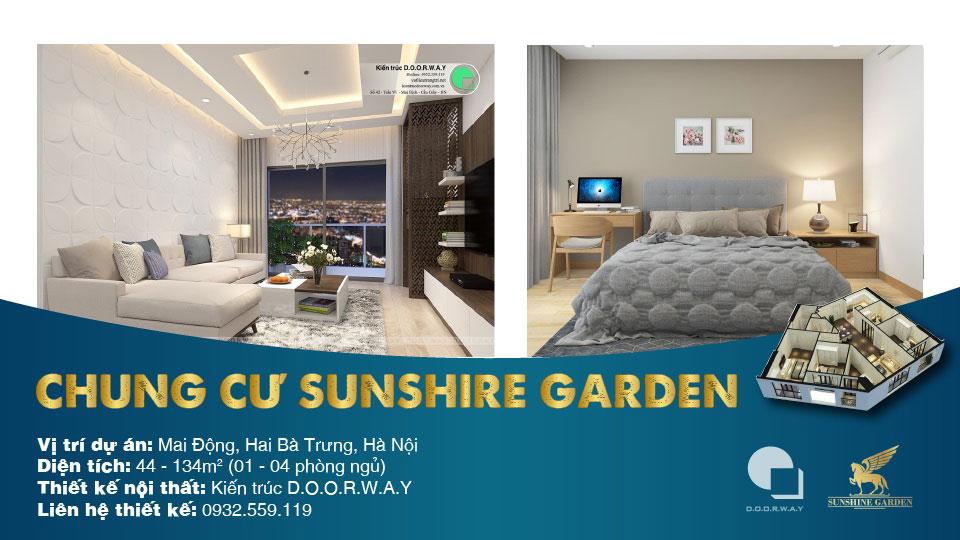Ảnh tiêu biểu- Full thiết kế nội thất chung cư Sunshine Garden __Căn 1PN - 4PN