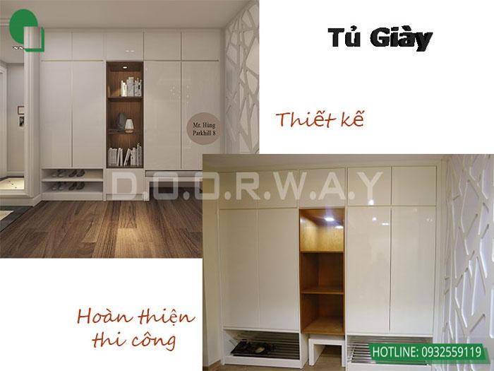 Before after 1- Khám phá mẫu thiết kế nội thất chung cư Sky Park Residence - Tôn Thất Thuyết