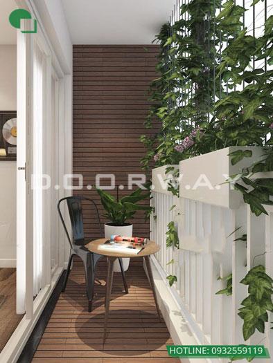 Logia- Khám phá mẫu thiết kế nội thất chung cư Sky Park Residence - Tôn Thất Thuyết
