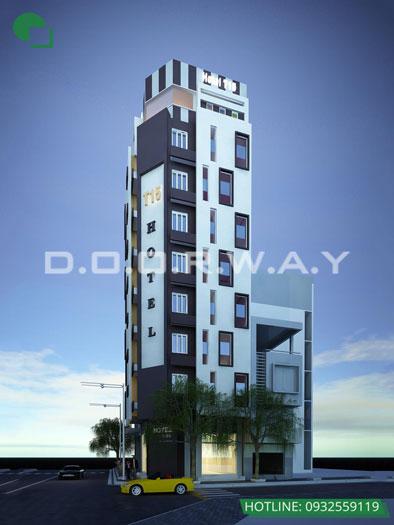 Kiến trúc 1- Mẫu & tiêu chuẩn thiết kế nội thất khách sạn 2 sao TH Hotel 9 tầng