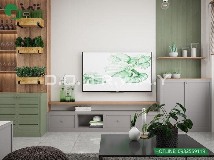 PK2- thiết kế căn hộ 45m2 FLC Green Apartment - Thiết kế nội thất