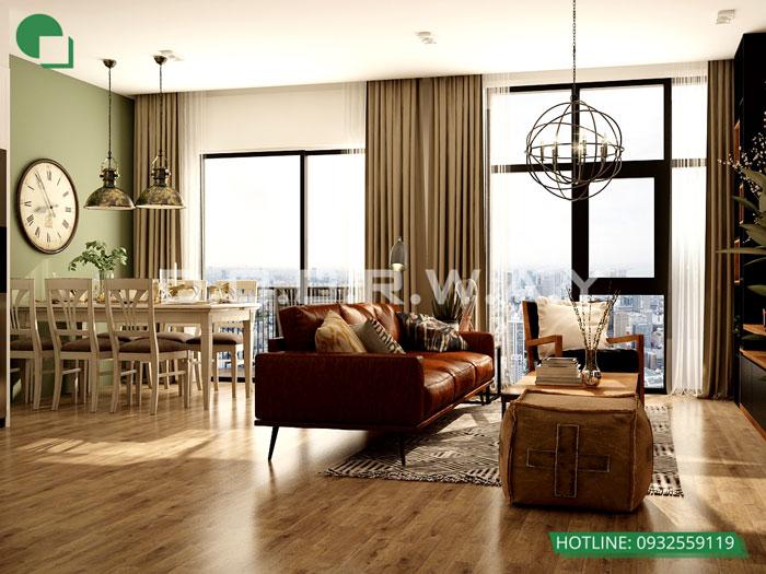 PKB(2) 3PN- Mẫu thiết kế nội thất chung cư Imperia Sky Garden - Kiến trúc Doorway