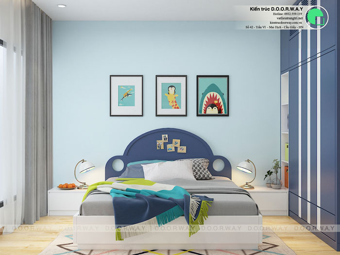 PN3(2)- Khám phá mẫu thiết kế nội thất chung cư Sky Park Residence - Tôn Thất Thuyết