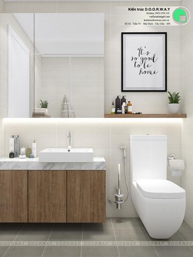 WC- Gợi ý thiết kế căn hộ 98m2 Imperia Sky Garden - Căn 3 phòng ngủ