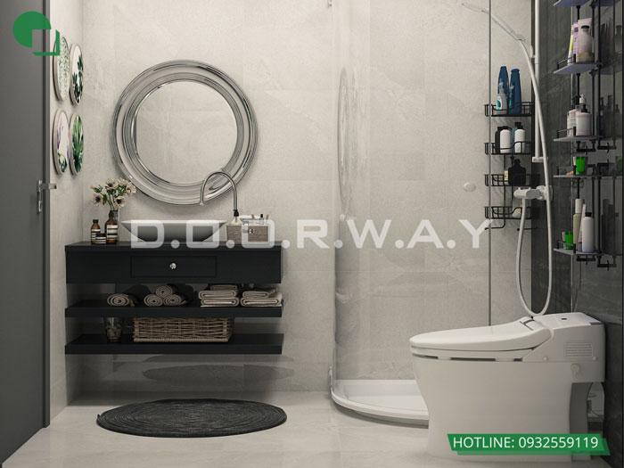 WC- Khám phá mẫu thiết kế nội thất chung cư Sky Park Residence - Tôn Thất Thuyết