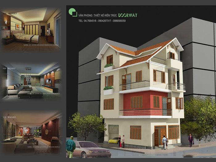 10- 11 mẫu thiết kế nhà phố 2 mặt tiền hiện đại tại Hà Nội (2019)