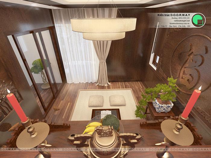 3b - Mẫu thiết kế phòng thờ trên sân thượng cho nhà ống, biệt thự 2019