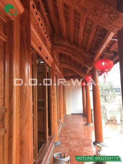 4b- Mẫu thi công nội thất nhà thờ họ, nhà từ đường đẹp hợp phong thủy tại Hà Nội