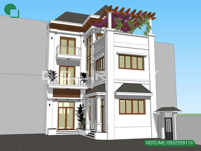 5- 11 mẫu thiết kế nhà phố 2 mặt tiền hiện đại tại Hà Nội (2019)