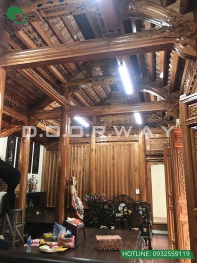 7- Mẫu thi công nội thất nhà thờ họ, nhà từ đường đẹp hợp phong thủy tại Hà Nội