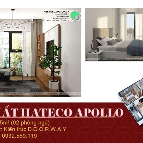 Ảnh tiêu biểu- Khám phá nội thất căn 2 phòng ngủ Hateco Apollo với 5 loại phòng