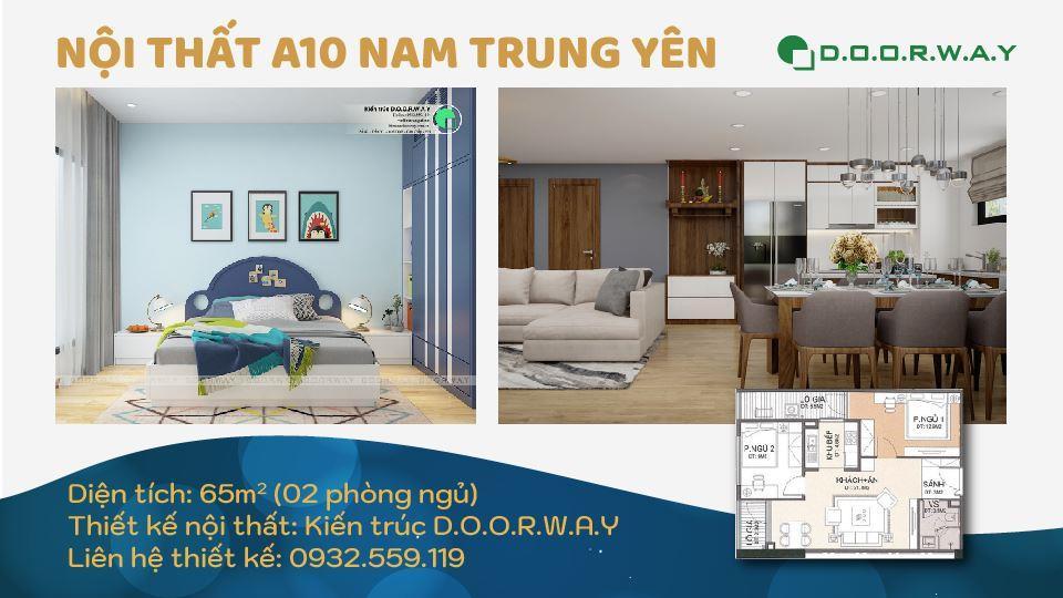 Ảnh tiêu biểu- Thiết kế nội thất căn hộ 65m2 A10 Nam Trung Yên - Full phòng
