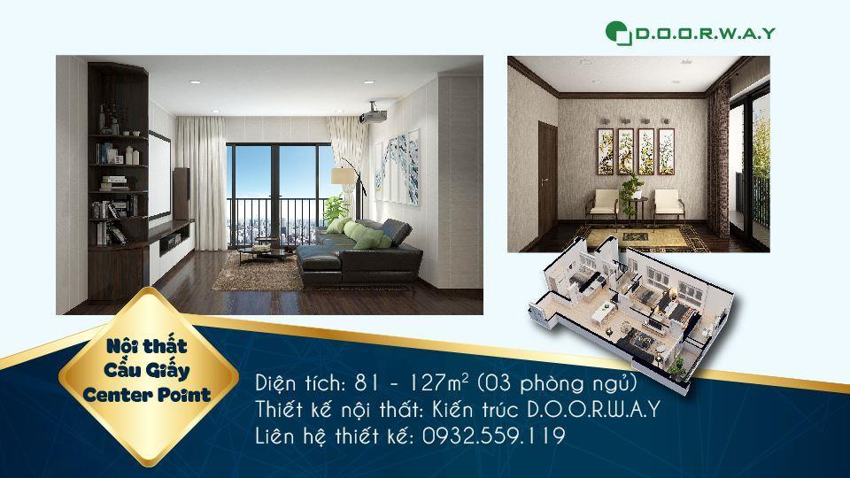 Ảnh tiêu biểu- Khám phá vẻ đẹp của nội thất căn hộ 3 phòng ngủ 110 Cầu Giấy Center Point
