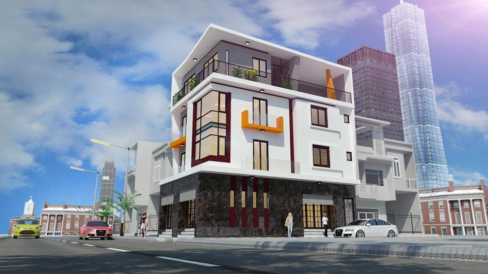 Ảnh tiêu biểu- 11 mẫu thiết kế nhà phố 2 mặt tiền hiện đại tại Hà Nội (2019)