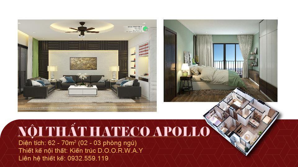Ảnh tiêu biểu- Phương án thiết kế nội thất chung cư Hateco Apollo đẹp hiện đại