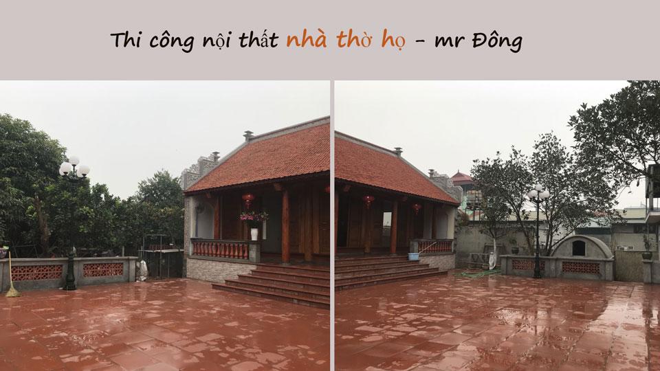Ảnh tiêu biểu- Mẫu thi công nội thất nhà thờ họ, nhà từ đường đẹp hợp phong thủy tại Hà Nội