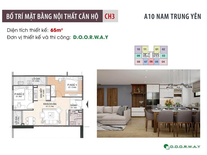 MB-65m2-2PN- Thiết kế nội thất căn hộ 65m2 A10 Nam Trung Yên - Full phòng