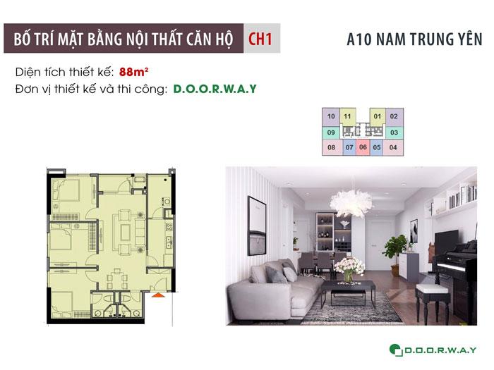 MB-88m2- Tổng hợp mẫu nội thất căn 3 phòng ngủ A10 Nam Trung Yên