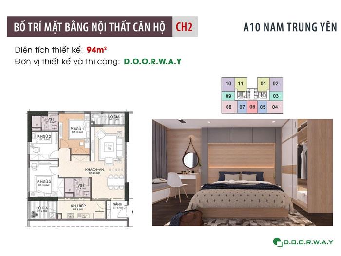 MB-94m2- thiết kế nội thất căn 94m2 A10 Nam Trung Yên - Căn hộ 3PN
