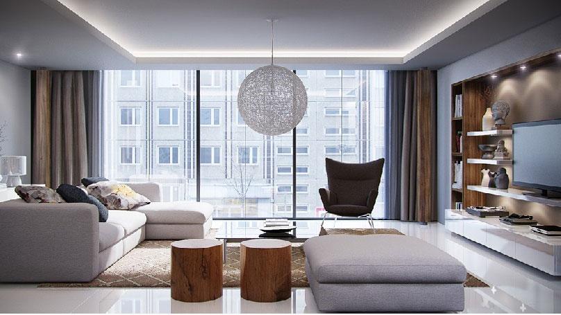 Nội thất mẫu- Thiết kế nội thất căn hộ 2 phòng ngủ 110 Cầu Giấy Center Point - New 2019