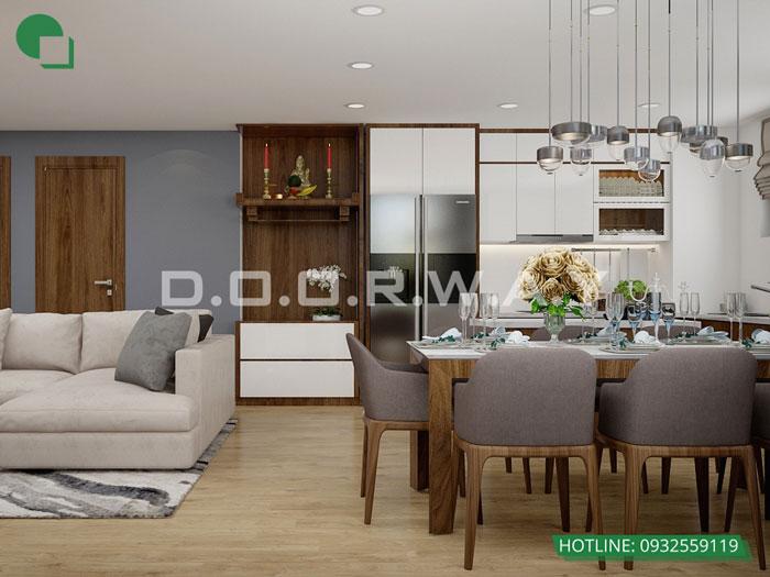 PK- Thiết kế nội thất căn hộ 65m2 A10 Nam Trung Yên - Full phòng
