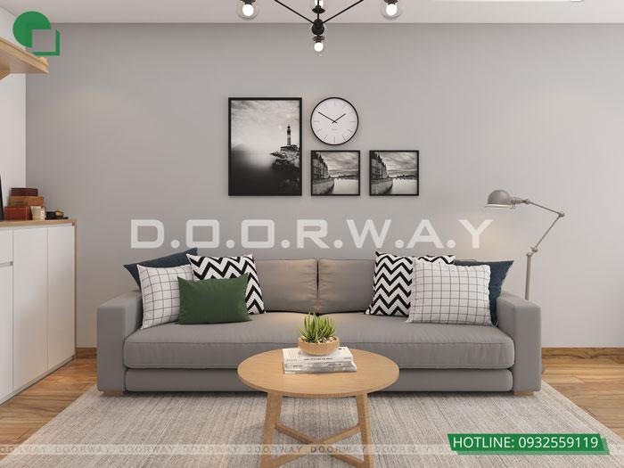 PK1- Thiết kế nội thất căn hộ 2 phòng ngủ 110 Cầu Giấy Center Point - New 2019