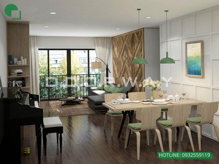 PK1- Phương án thiết kế nội thất chung cư Hateco Apollo đẹp hiện đại