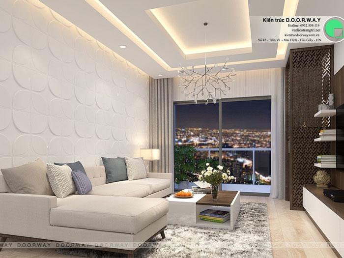 PK2- Thiết kế nội thất căn hộ 2 phòng ngủ 110 Cầu Giấy Center Point - New 2019