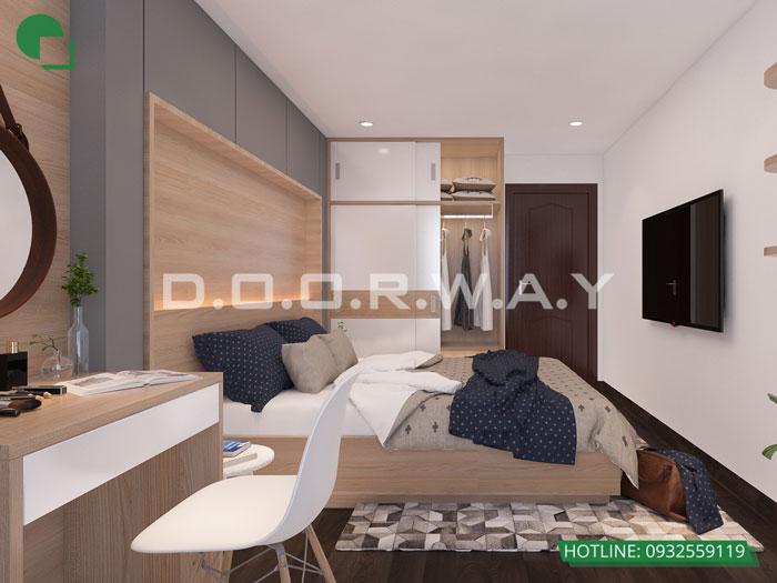 PN1(2)- thiết kế nội thất căn 94m2 A10 Nam Trung Yên - Căn hộ 3PN