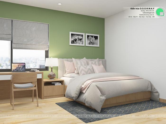 PN2- Mẫu thiết kế nội thất căn hộ 72m2 A10 Nam Trung Yên
