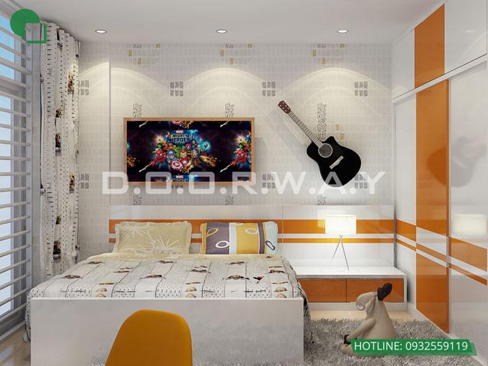 PN2(1)- [2019] Thiết kế nội thất căn 57m2 Hateco Apollo - 2PN đẹp