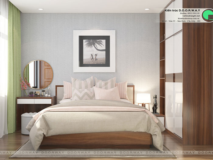 PN2(1)- Thiết kế nội thất căn hộ 2 phòng ngủ 110 Cầu Giấy Center Point - New 2019