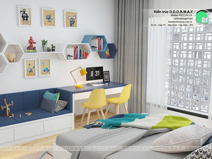 PN2(2)- Thiết kế nội thất căn hộ 65m2 A10 Nam Trung Yên - Full phòng