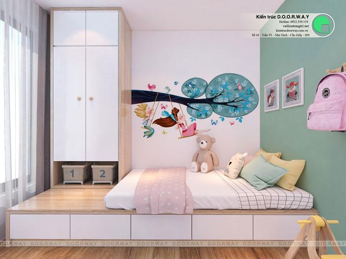 PN2(2)- Thiết kế nội thất căn hộ 2 phòng ngủ 110 Cầu Giấy Center Point - New 2019