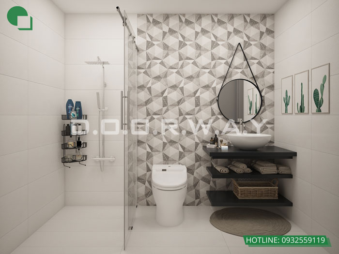 WC- Phương án thiết kế nội thất chung cư Hateco Apollo đẹp hiện đại