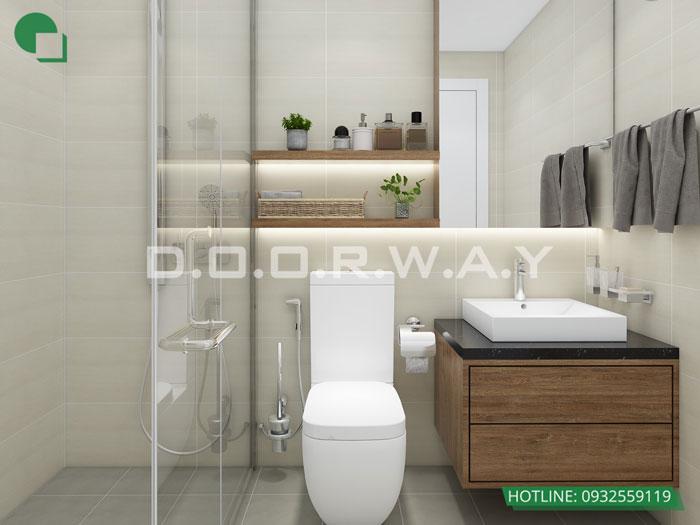 WC- thiết kế nội thất căn 94m2 A10 Nam Trung Yên - Căn hộ 3PN