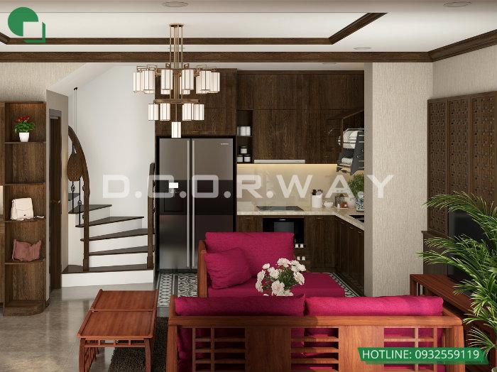 1- Gợi ý cách thiết kế nội thất phòng khách liền phòng ăn cho không gian rộng mở