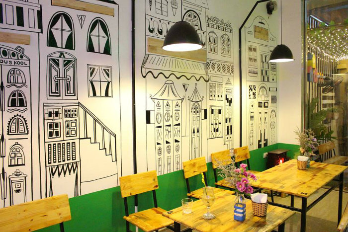 1- 3 lời khuyên hữu ích thiết kế quán cafe không gian hẹp