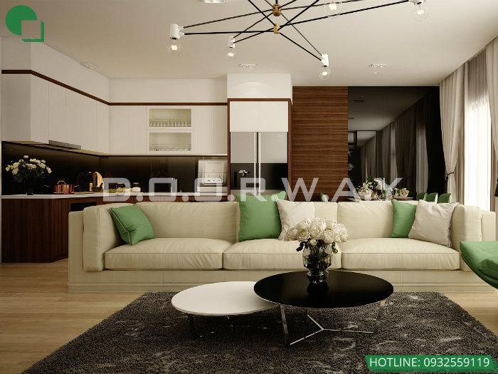 3- Gợi ý cách thiết kế nội thất phòng khách liền phòng ăn cho không gian rộng mở