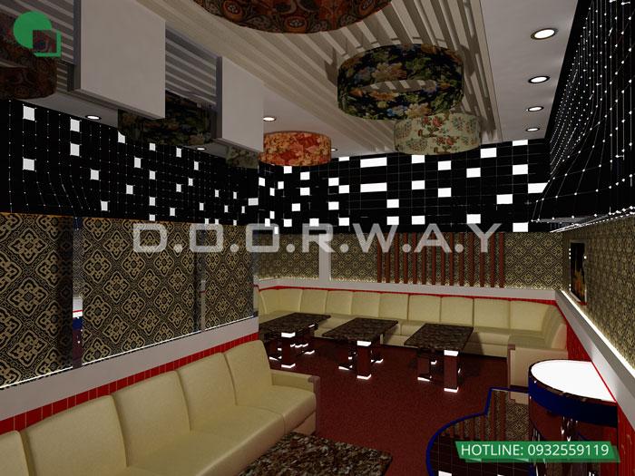3- Khám phá thiết kế nội thất quán karaoke 150m2 - Karaoke Phương Hoa
