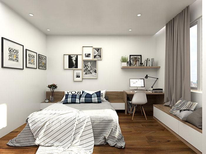 3-Sắp xếp đồ đạc gọn gàng, hợp lý là cách để thiết kế nội thất phòng ngủ đơn giản