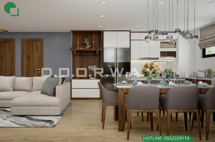 7- Gợi ý cách thiết kế nội thất phòng khách liền phòng ăn cho không gian rộng mở